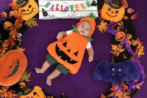 ハロウィン おひるねアート リース かぼちゃ
