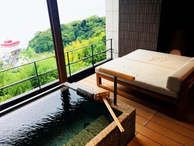 露天風呂付き客室 熱海 温泉 せかいへ 高級旅館