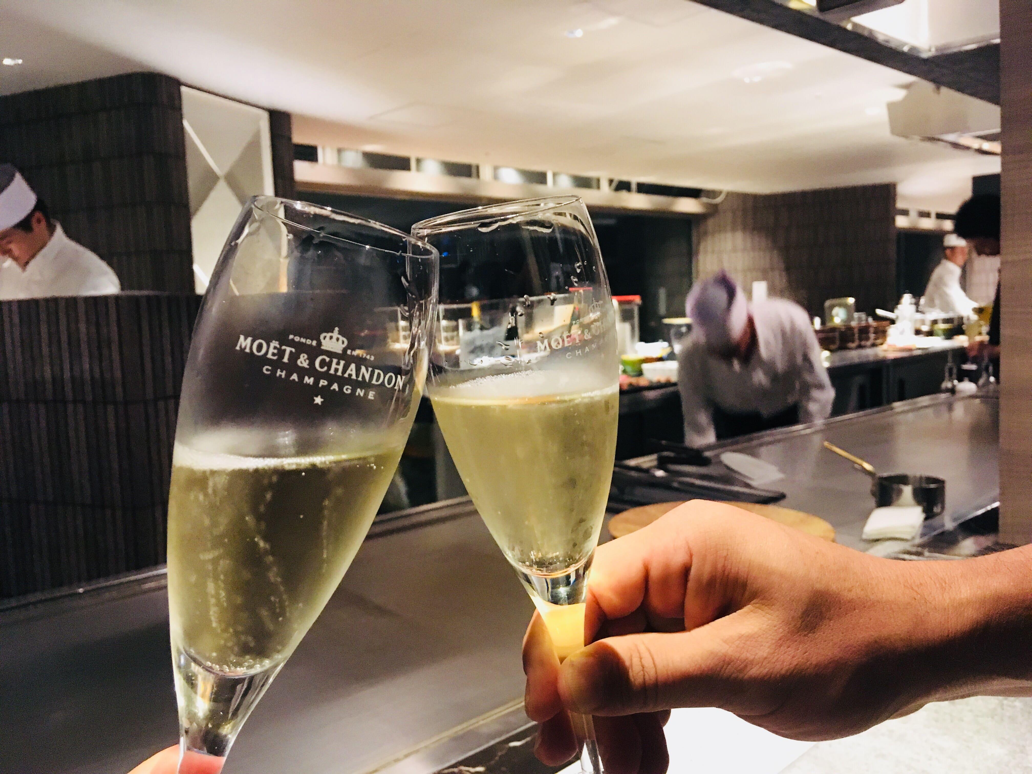 露天風呂付き客室 熱海 温泉 せかいへ 高級旅館 シャンパン