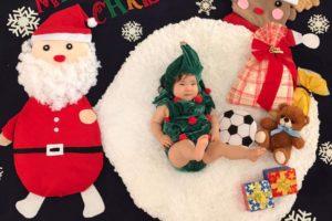 クリスマス サンタクロース おひるねアート お昼寝アート クリスマスツリー トナカイ