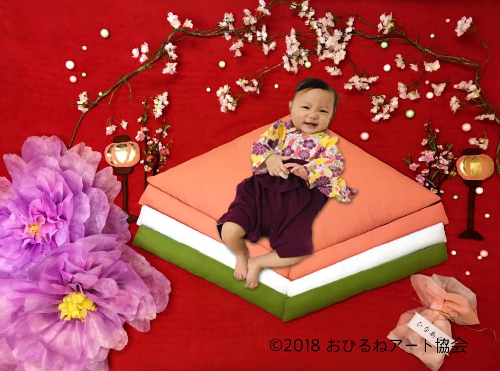 おひるねアート ひな祭り 桜 お雛様 土浦 茨城 イオンモール
