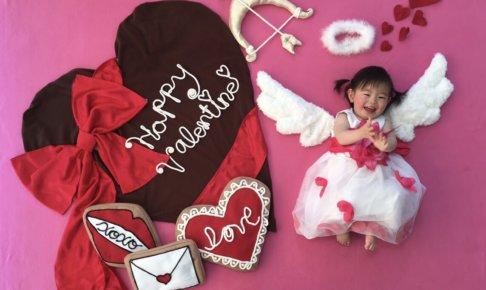 おひるねアート バレンタインデー チョコレート 天使 ドコモショップ竜ヶ崎