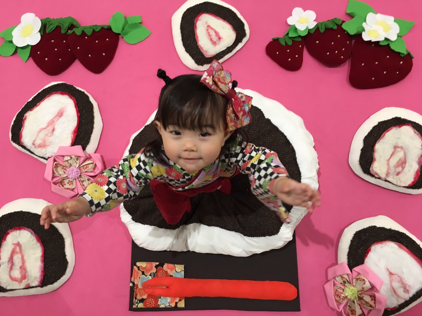 おひるねアート いちご大福 苺 イオンモール土浦 茨城 僕のおひるねアート