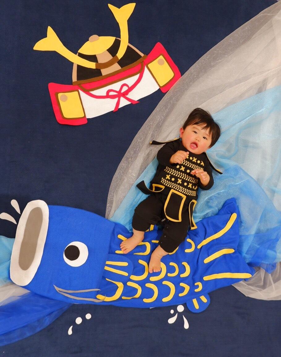 おひるねアート 鯉のぼり こどもの日 茨城 豊島 僕のおひるねアート