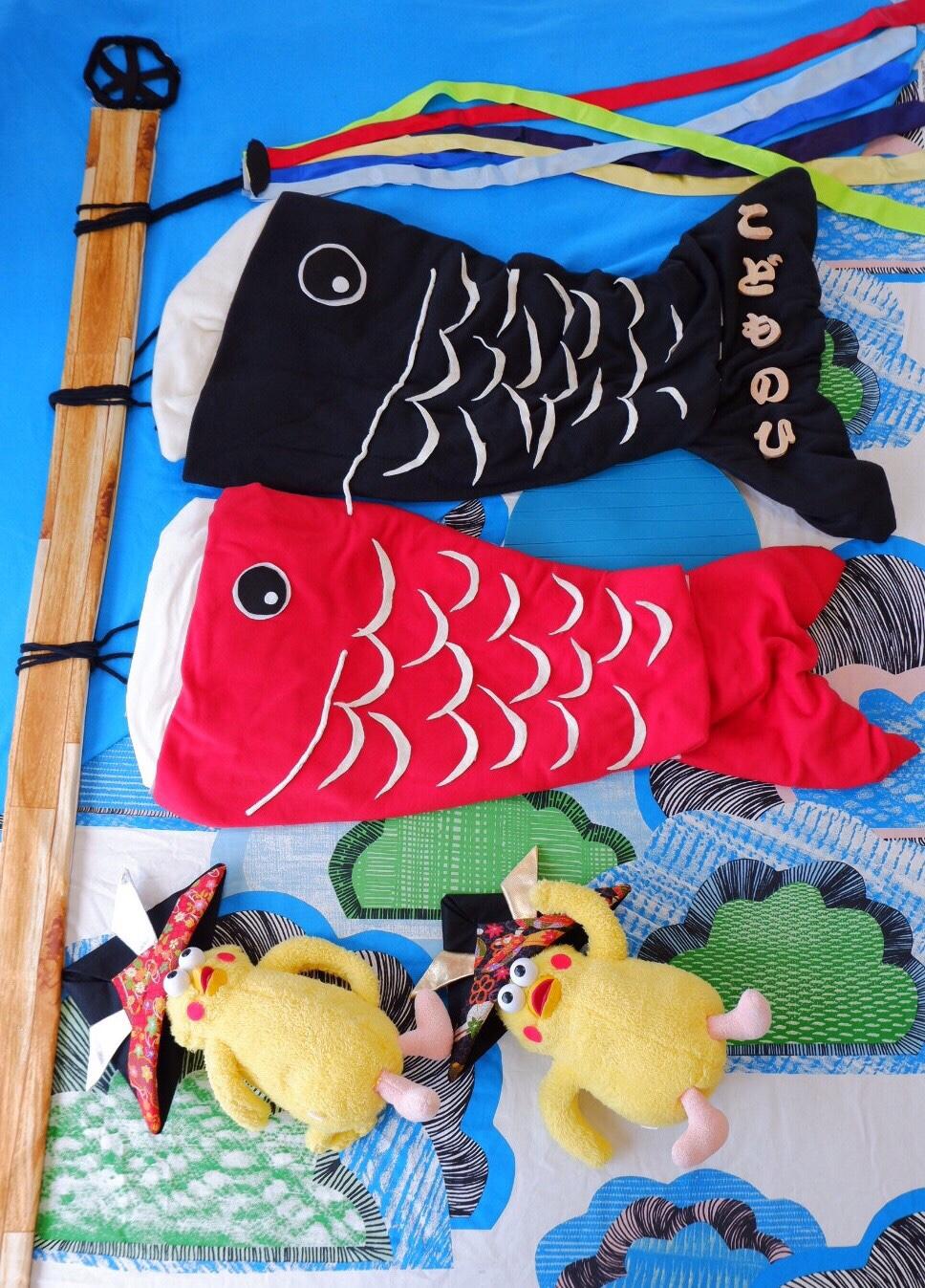 おひるねアート ドコモショップ竜ヶ崎 僕のおひるねアート こどもの日 鯉のぼり
