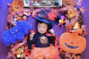 おひるねアート ハロウィン かぼちゃ ハッピーハロウィン 赤ちゃん